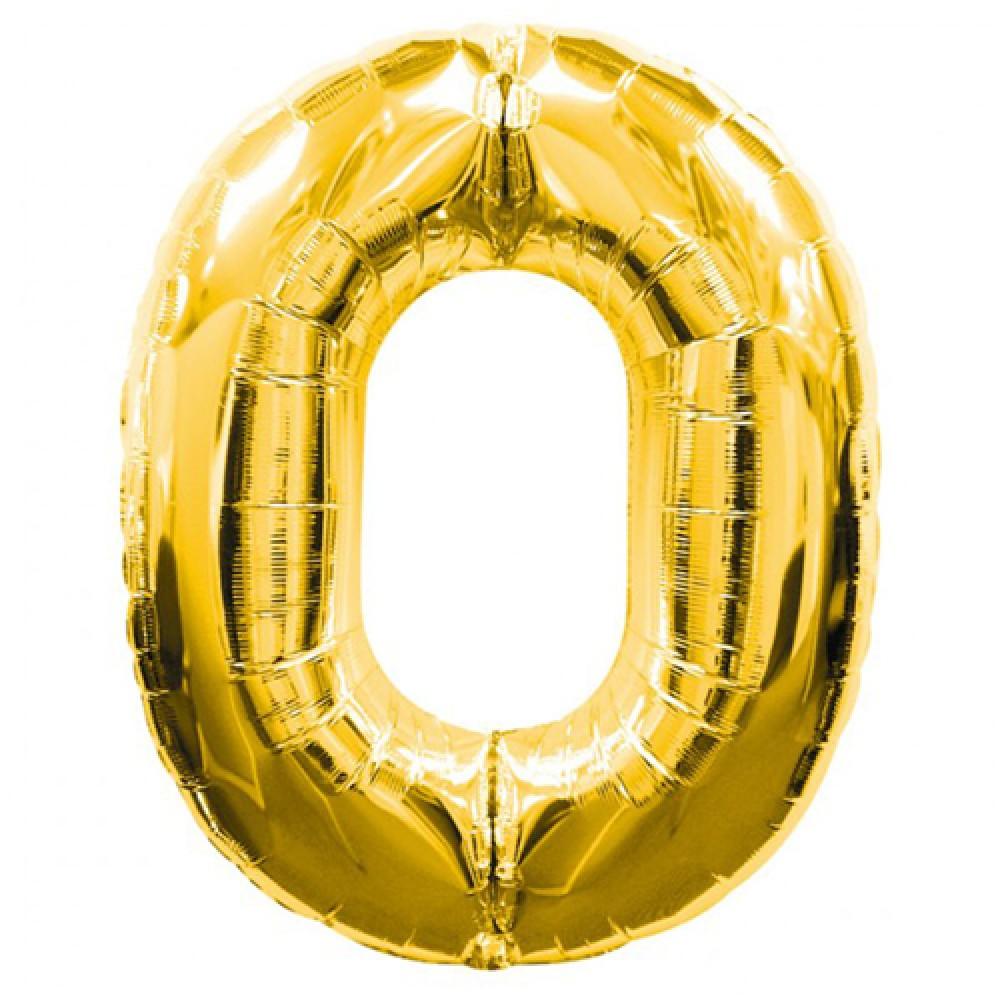 0 Rakamlı Folyo Balon Gold Renk  40 inç