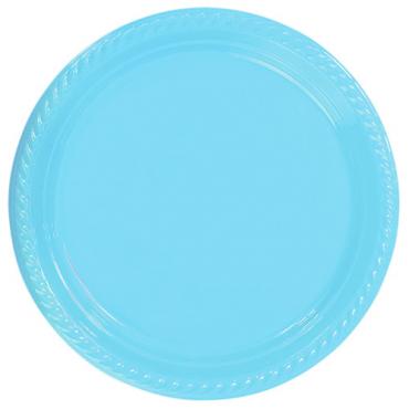 Açık Mavi Plastik Tabak 22 cm 25li