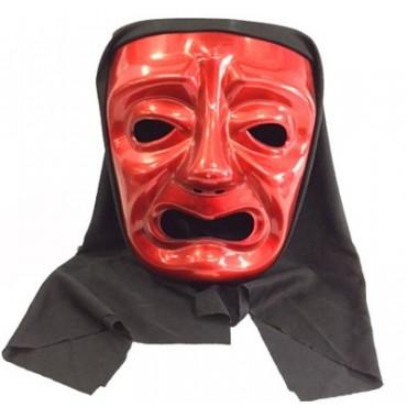Ağlayan Tiyatro Maskesi Kırmızı