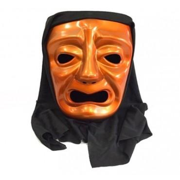 Ağlayan Tiyatro Maskesi Turuncu