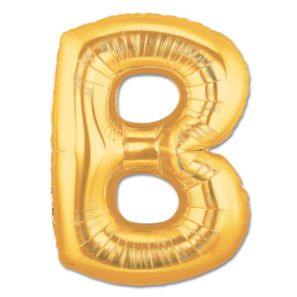 B Harf Folyo Balon Altın Renk  40 inç