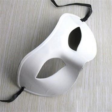 Beyaz Renk Balo Maskesi 12 Adet