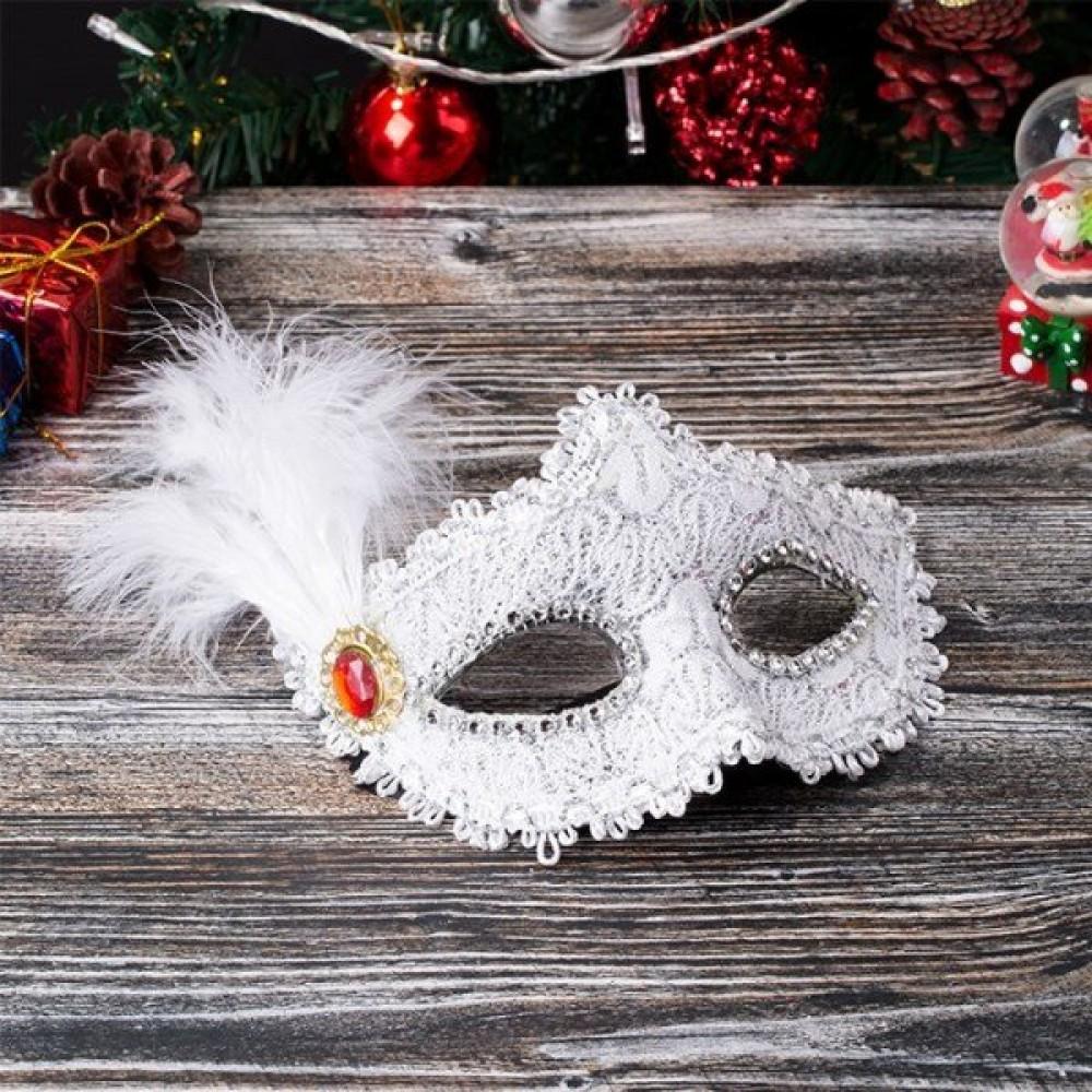 Beyaz Yılbaşı Parti Maskesi