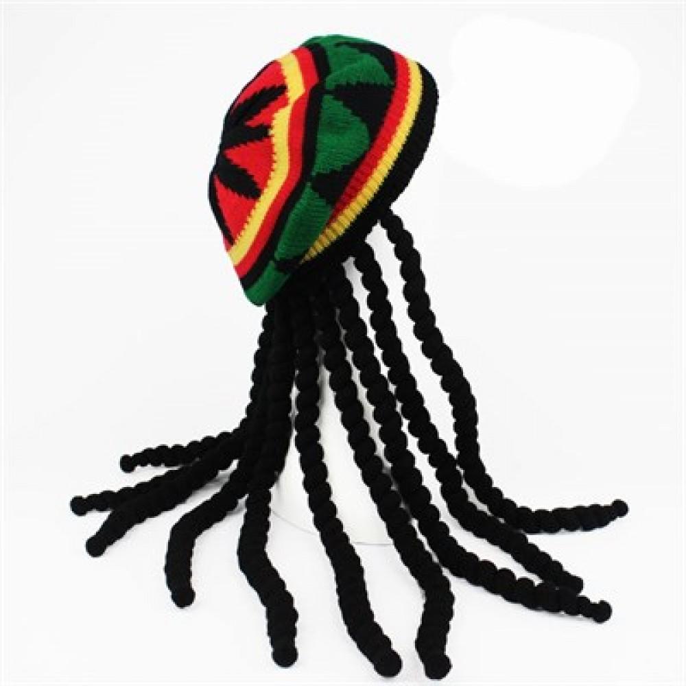 Bob Marley Şapkalı Peruk