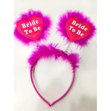 Bride To Be Taç Bekarlığa Veda Partisi Tacı Fuşya Renk