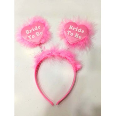 Bride To Be Taç Bekarlığa Veda Partisi Tacı Pembe Renk