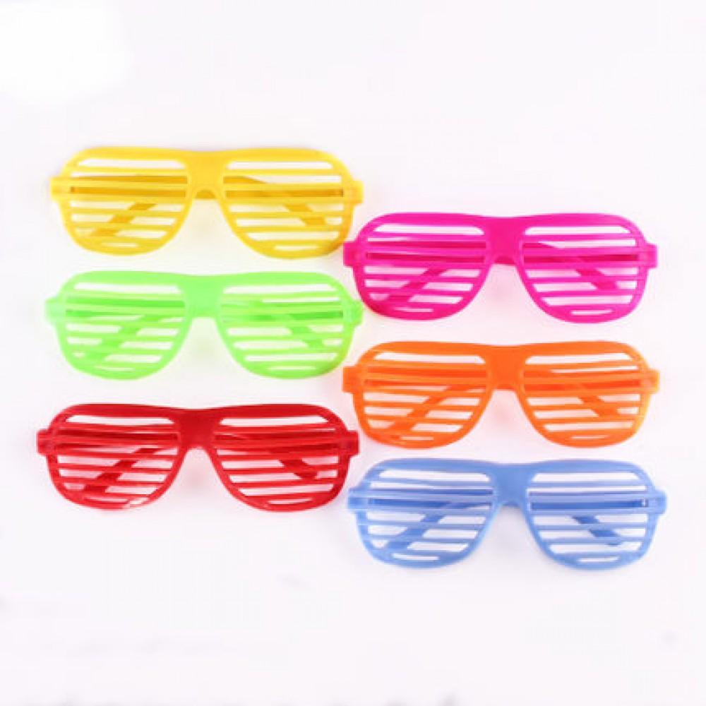 Büyük Panjur Parti Gözlüğü Karışık Renk