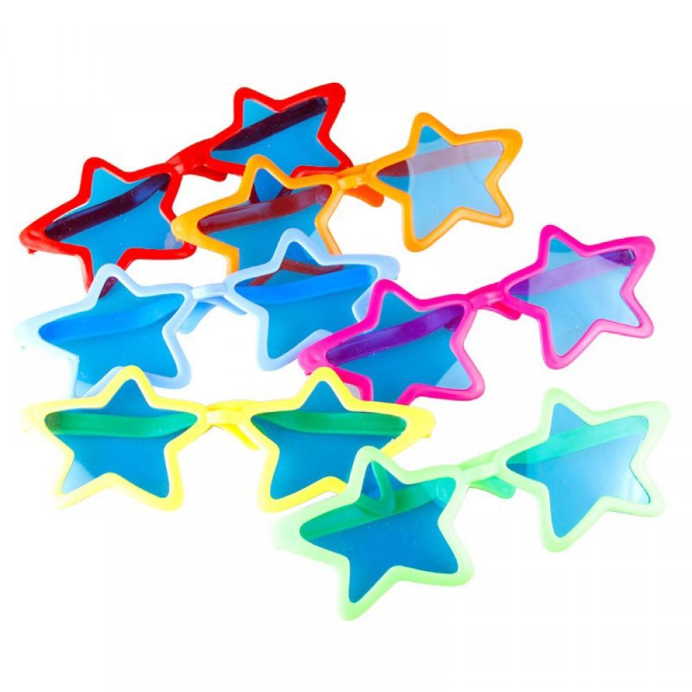 Büyük Yıldız Parti Gözlüğü Karışık Renk
