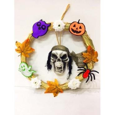 Cadılar Bayramı Çelenk Dekor Halloween Süs