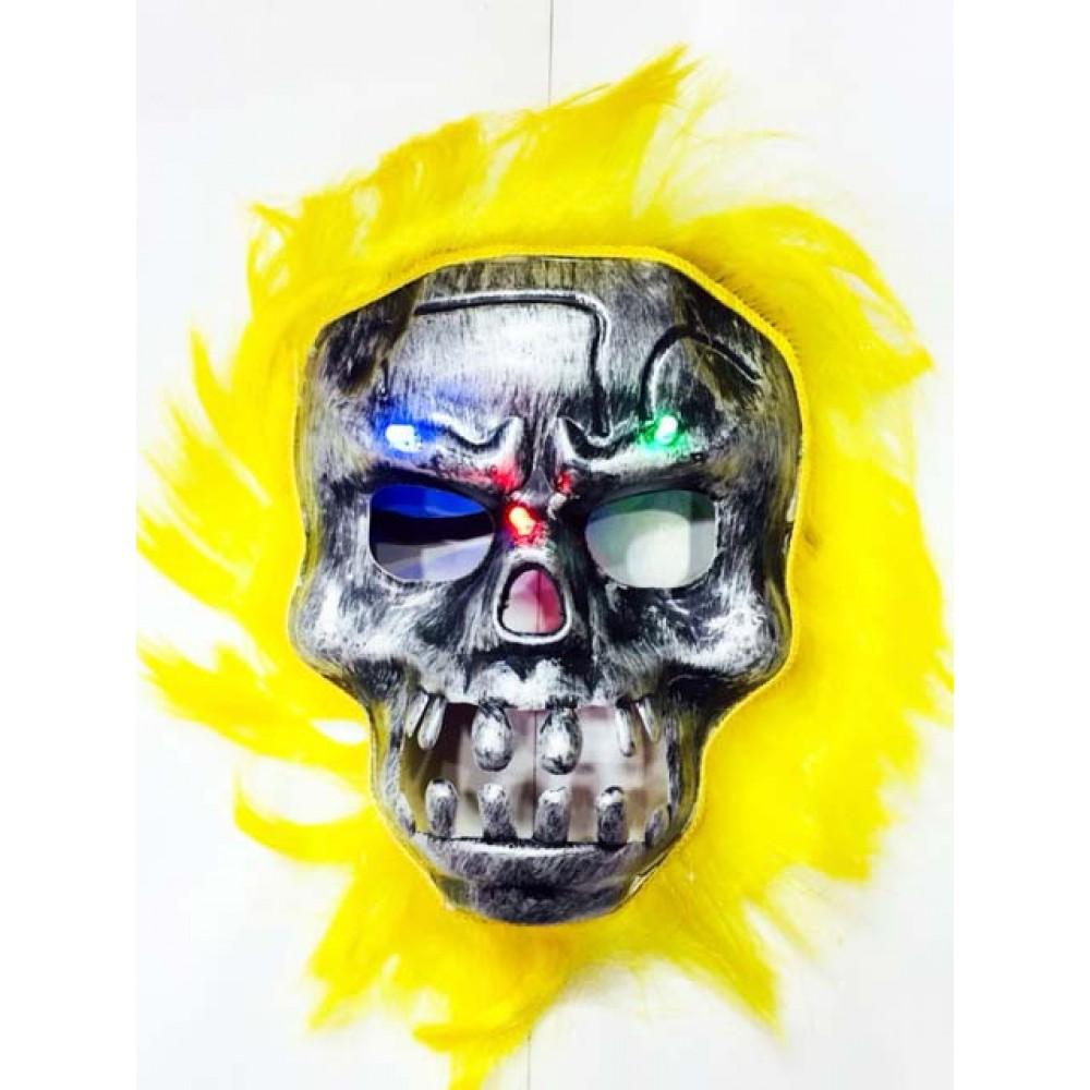 Cadılar Bayramı Halloween Işıklı Kurukafa Maske