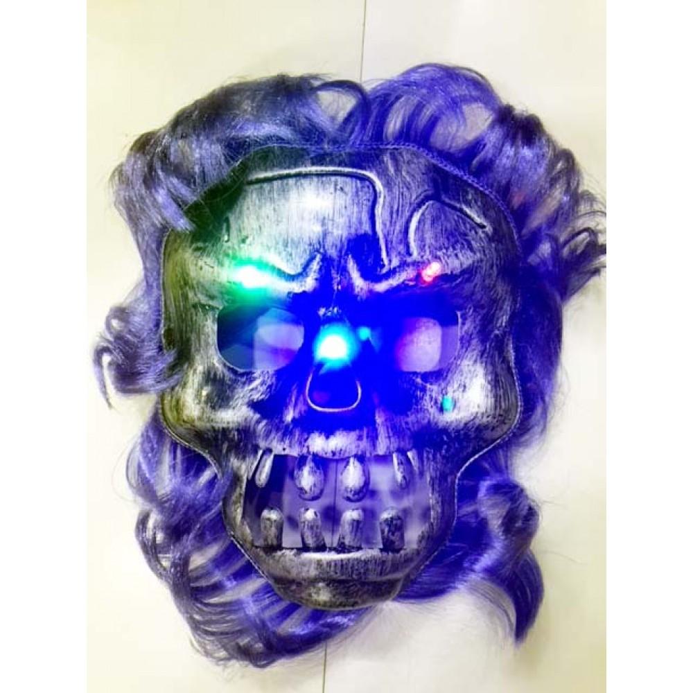 Cadılar Bayramı Halloween Işıklı Kurukafa Maskesi