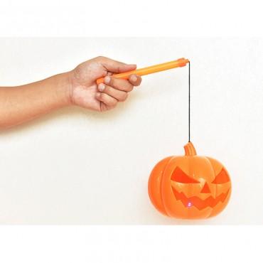 Cadılar Bayramı Halloween Led Işıklı Sopalı Balkabağı Dekor