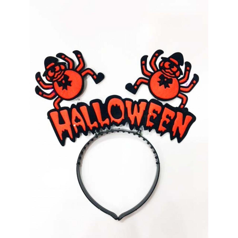 Cadılar Bayramı Halloween Örümcekli Taç Turuncu