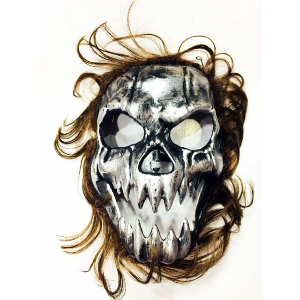Cadılar Bayramı Kurukafa Maskesi Kahverengi