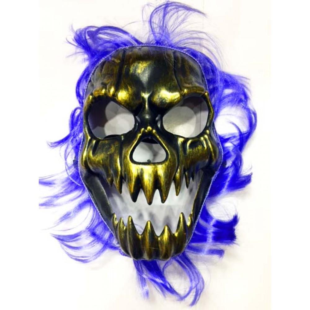 Cadılar Bayramı Mavi Saçlı Maske