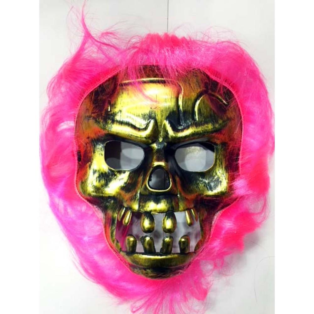 Cadılar Bayramı Pembe Saçlı Maske