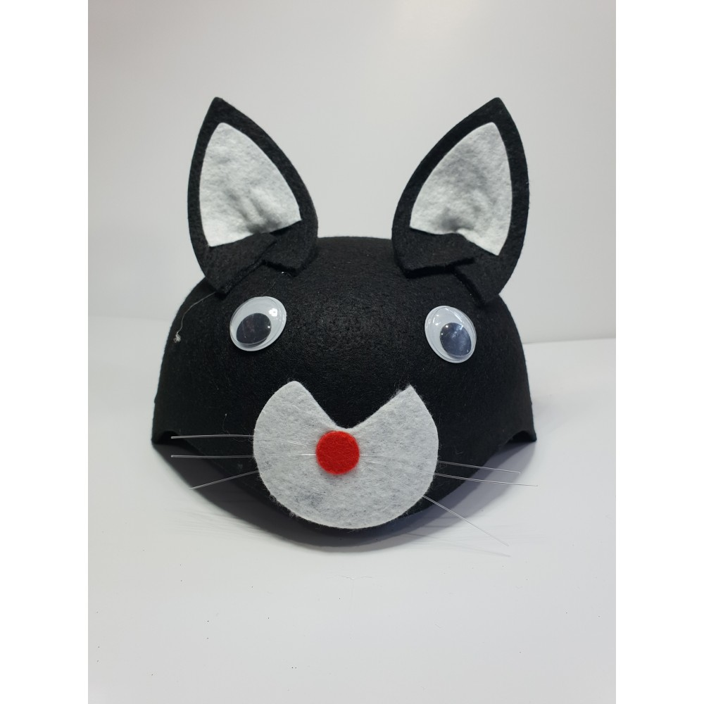 Çocuk Kedi Şapkası Siyah Renk