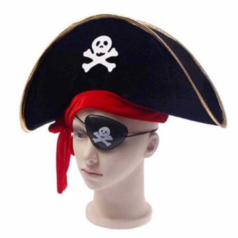 Çocuk Korsan Şapka Göz Bandı Seti