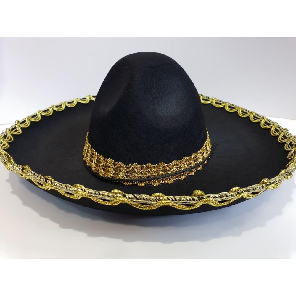Çocuk Meksika Şapkası Altın Desenli