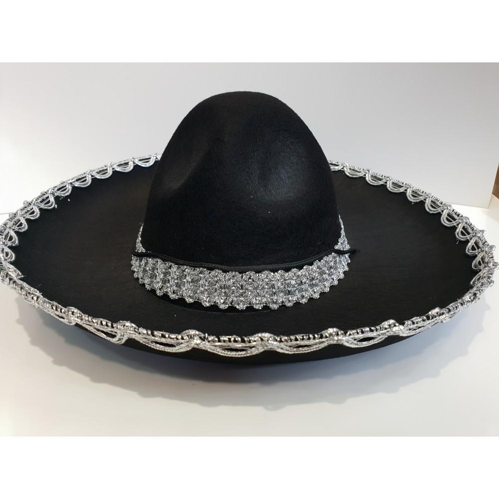 Çocuk Meksika Şapkası Gümüş Desenli