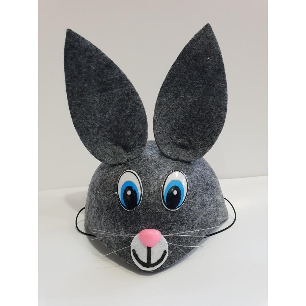 Çocuk Tavşan Şapkası Gri Renk