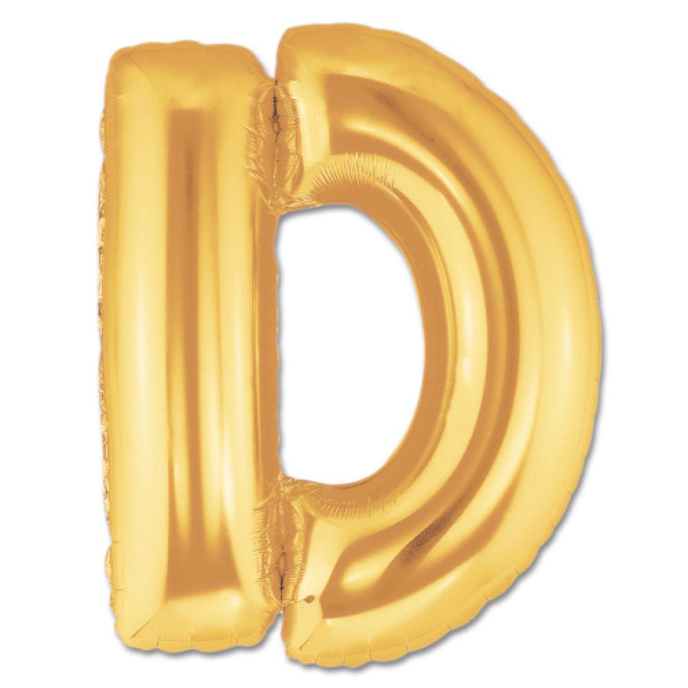 D Harf Folyo Balon Altın Renk  40 inç