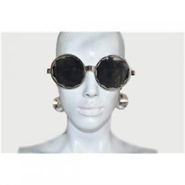 Disko Küpeli Gözlük Gümüş