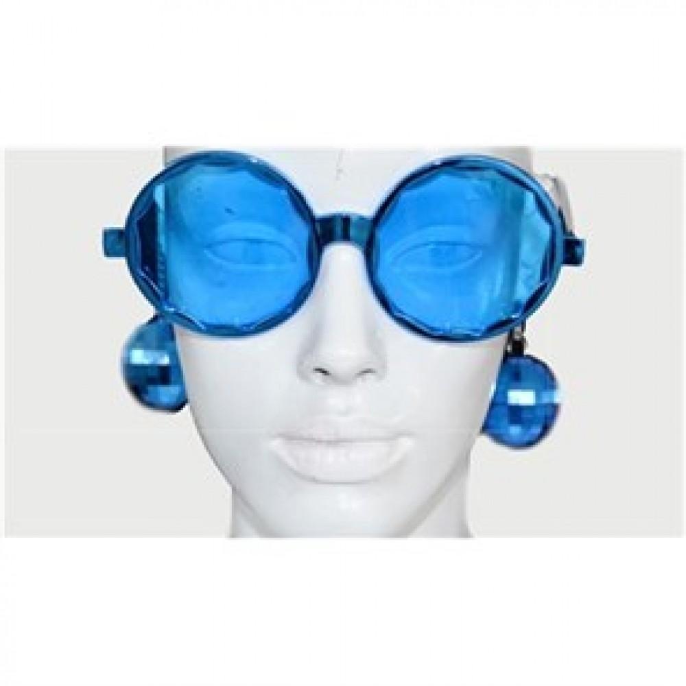 Disko Küpeli Gözlük Mavi