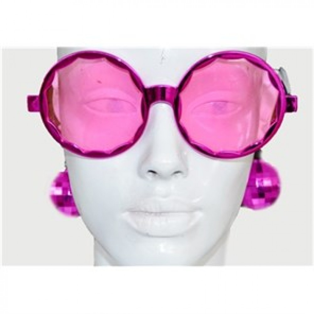 Disko Küpeli Gözlük Pembe
