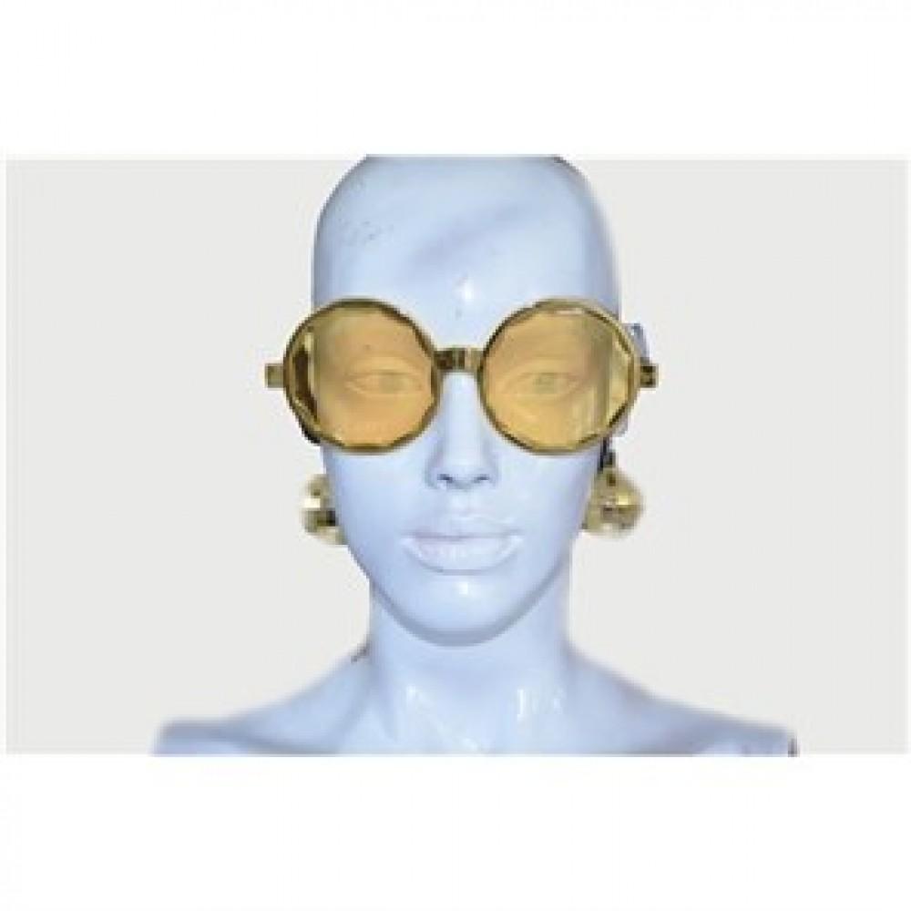 Disko Küpeli Gözlük Sarı