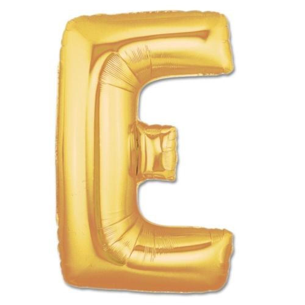 E Harf Folyo Balon Altın Renk  40 inç