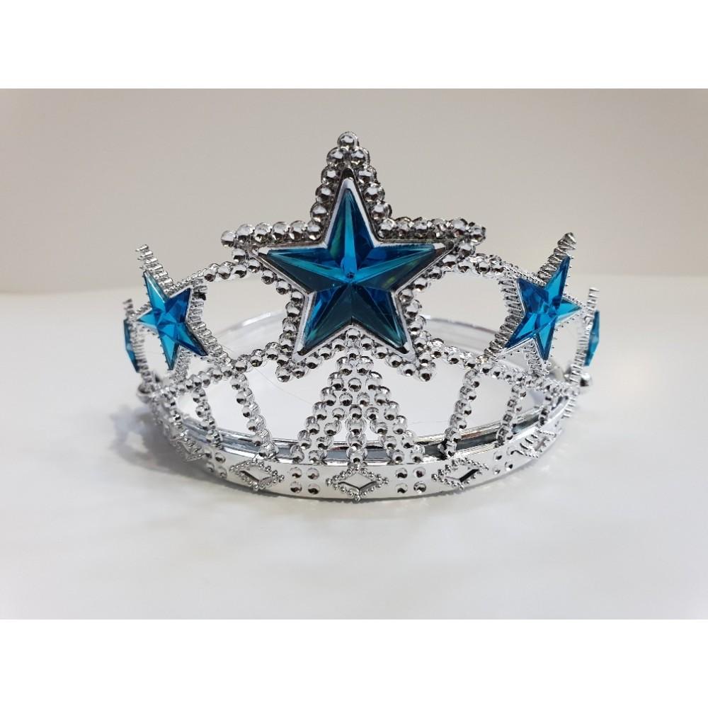 Elsa Yıldız Taç Mavi Renk 12 Adet