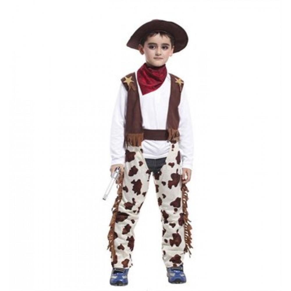 Erkek Çocuk Kovboy Kostümü L Beden 463