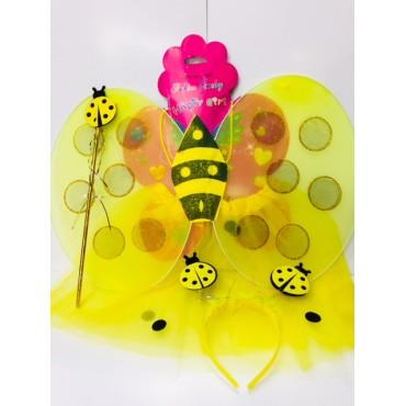 Etekli Arı Kanat Seti Etekli Arı Kostümü Seti