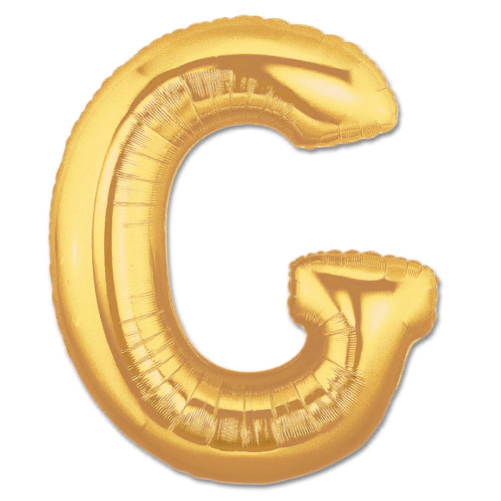 G Harf Folyo Balon Altın Renk  40 inç