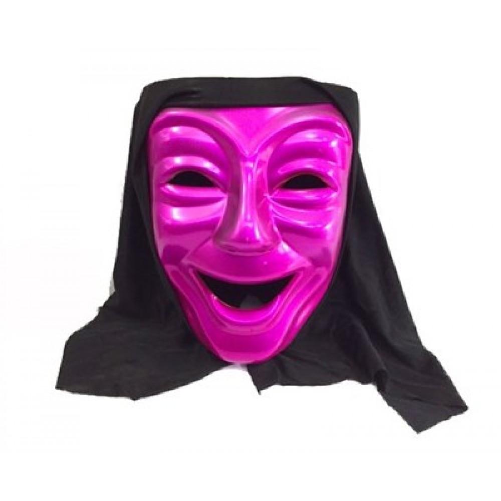Gülen Tiyatro Maskesi Fuşya