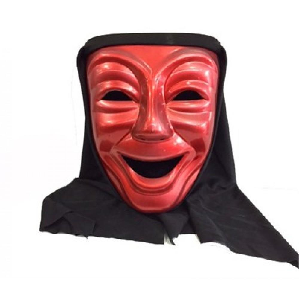 Gülen Tiyatro Maskesi Kırmızı