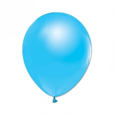 Metalik Balon Bebek Mavisi ve Beyaz Karışık 10Adet