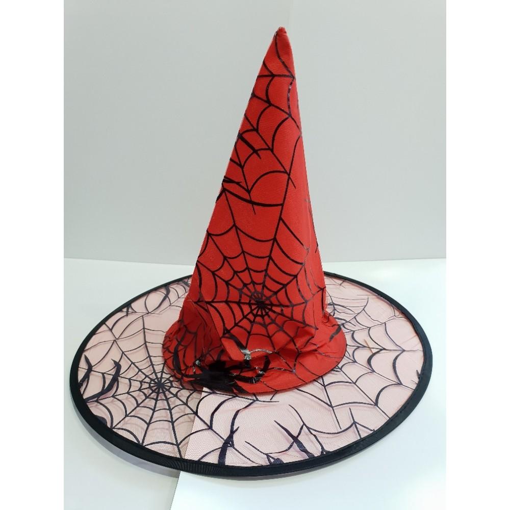 Örümcek Desenli Cadı Şapkası