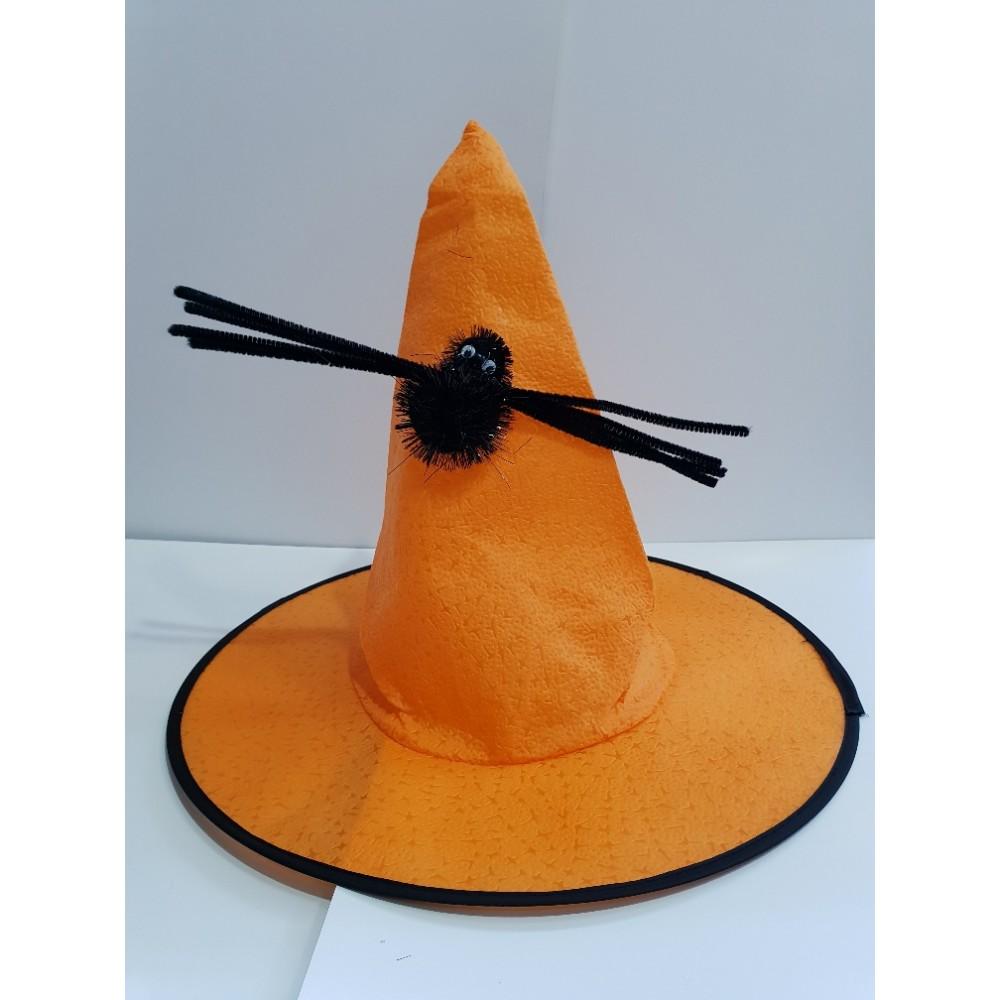 Örümcekli Cadı Şapkası Turuncu