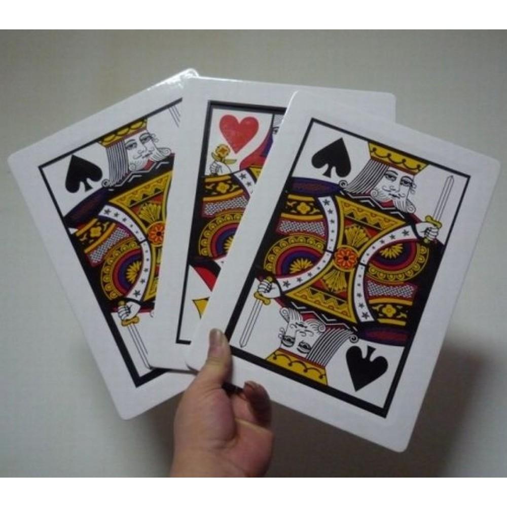 Üç Kart Monte Sihirbazlık Oyunu 3 Kart