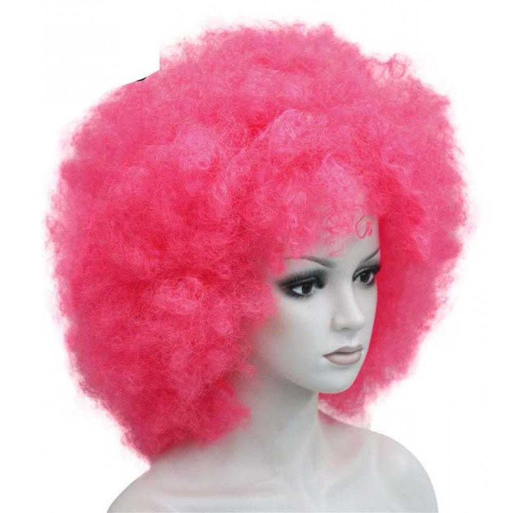 Büyük bonus peruk pembe renk