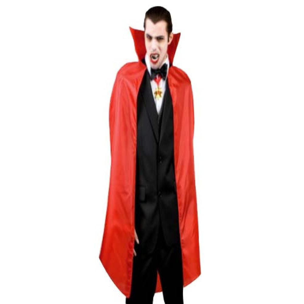 cadılar bayramı yakalı pelerin kırmızı 140x140