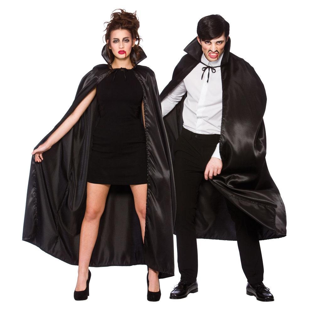 cadılar bayramı yakalı pelerin siyah 140x140