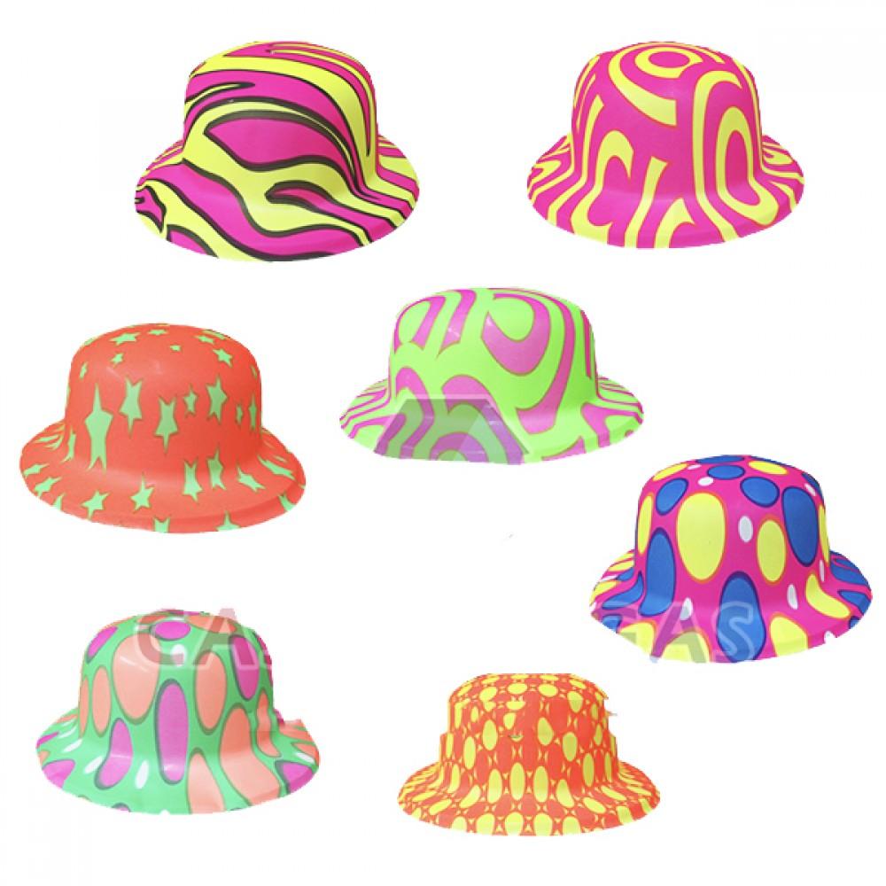 Desenli Plastik Parti Şapkası 12 adet karışık