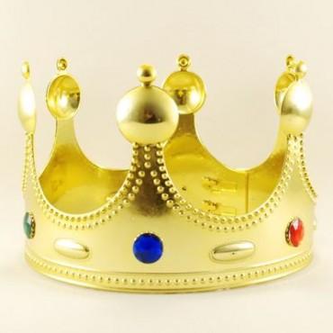 Kral Tacı Altın Renk Yetişkin Boy