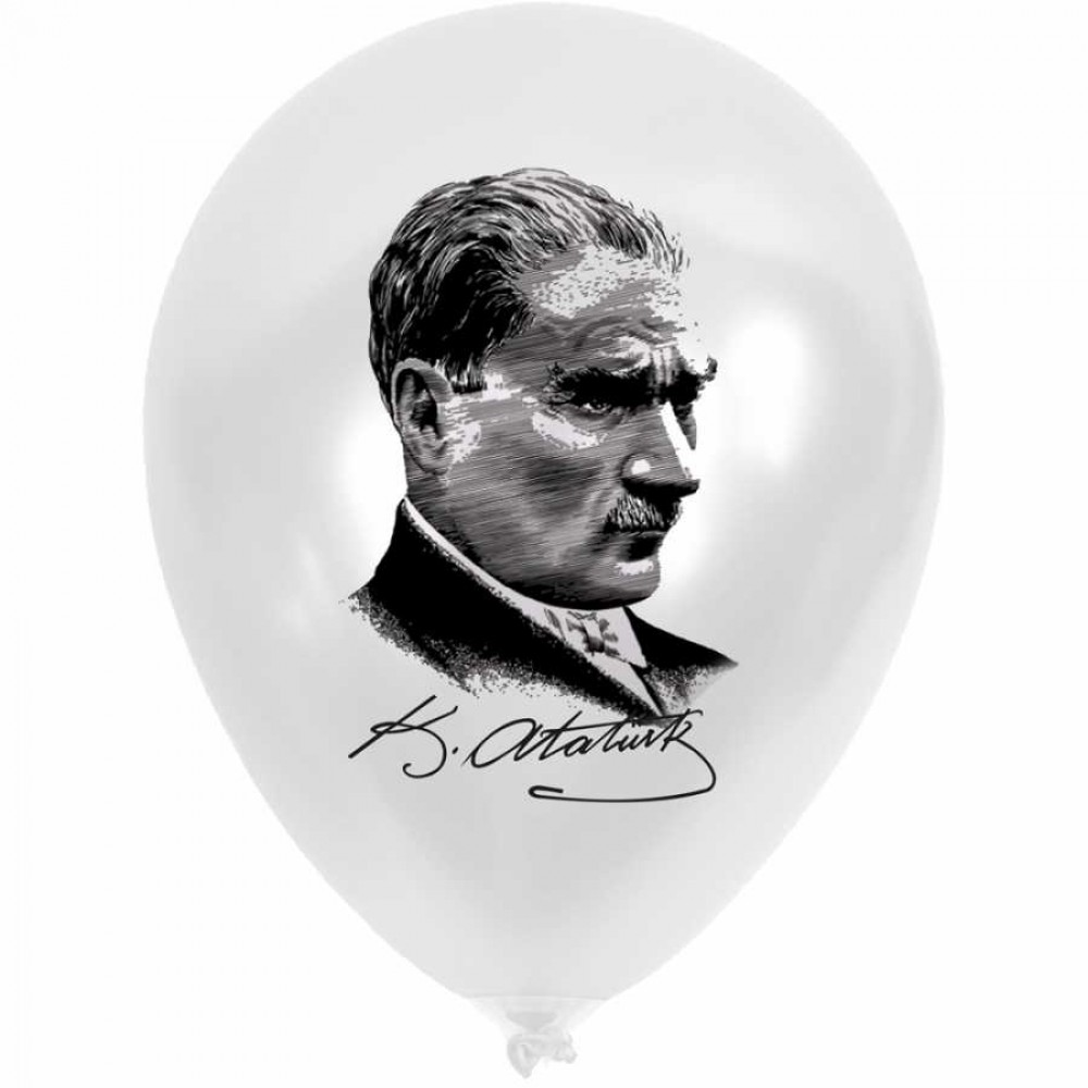 Atatürk & Türk Bayrağı Baskılı Balon 100\'lü