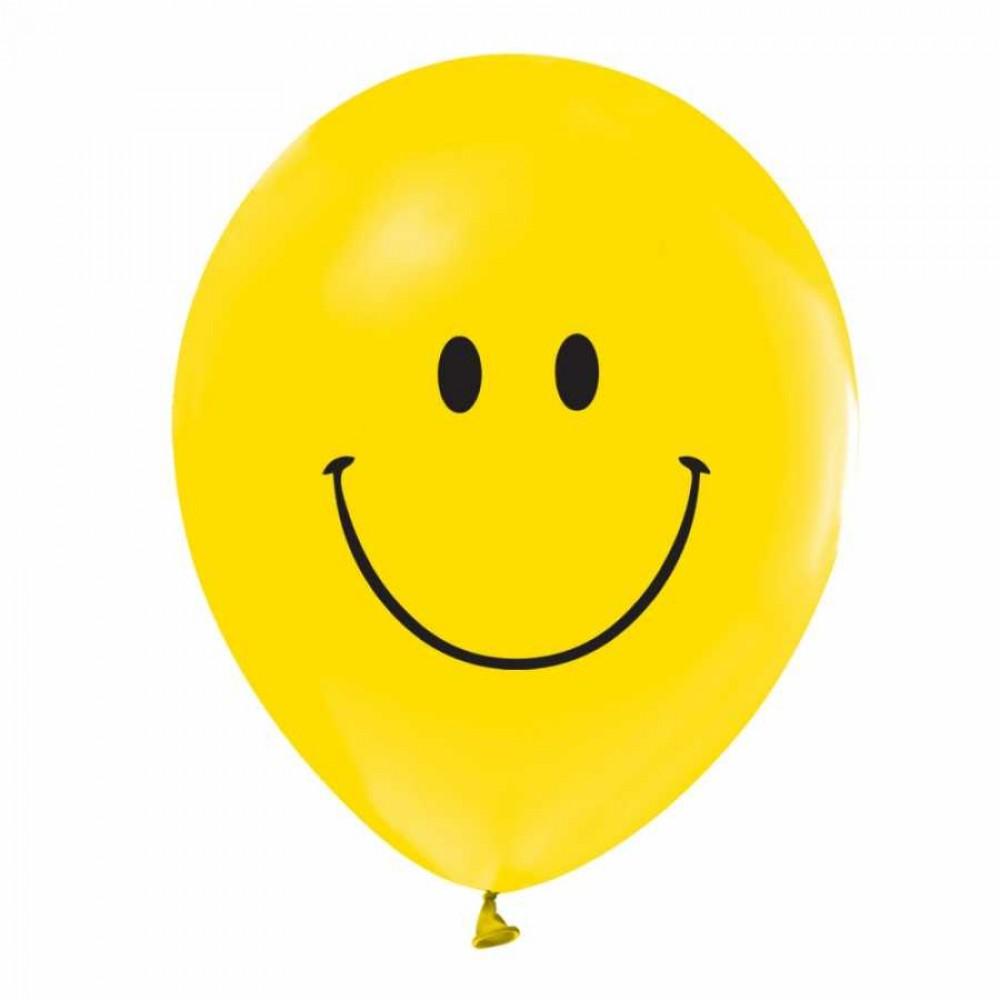 Gülen Yüz Baskılı Balon 100\'lü