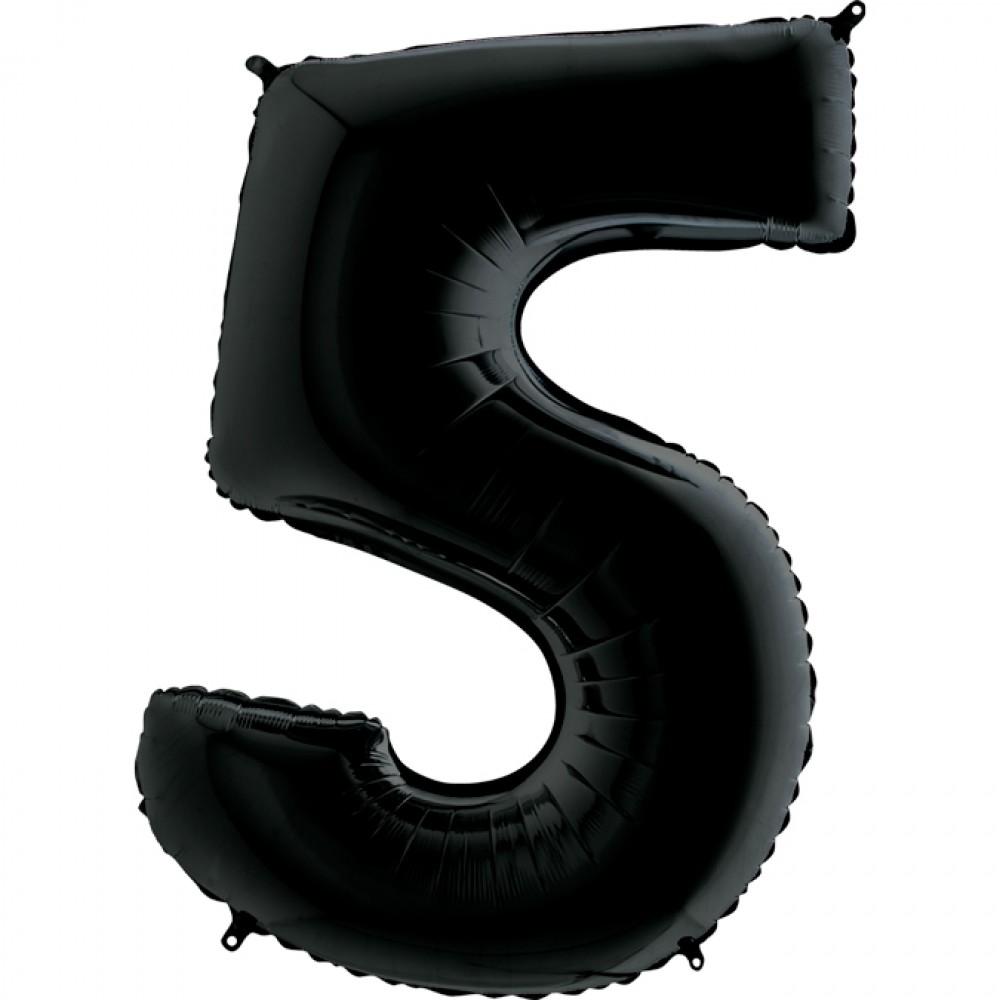 5 Rakam Grabo Siyah Folyo Balon 102 cm