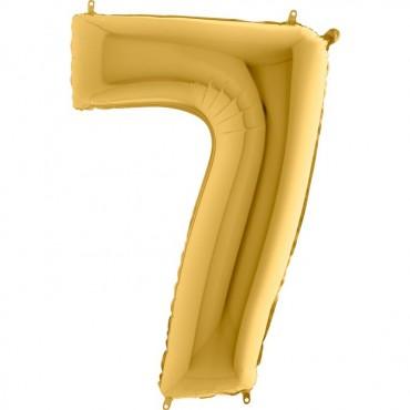 7 Rakam Grabo Altın Folyo Balon 102 cm
